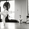 Testing for her Yellow Belt!   This one screamed black and white to me......   Love the end result.