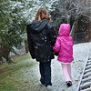 Sisters... off to see the snow fall