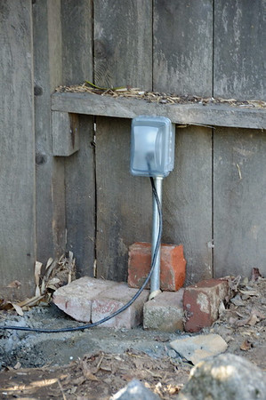 New outlet by the pond