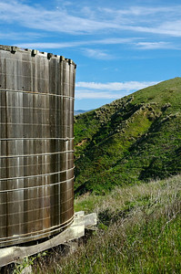 Background - January - An old water tank Point Reyes National Seashore