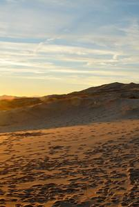 Background - May - Sunset on the dunes Kelso Dunes