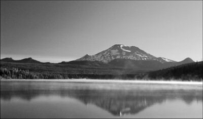 November Accent - South Sister above Elk Lake Cascade Lakes, Oregon