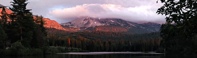 September Accent - Cloud Covered Peak Lassen Volcanic National Park
