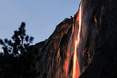 December - Firefall Yosemite Valley Yosemite National Park