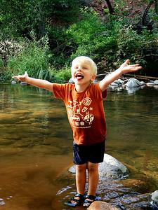 Wading in Oak Creek
