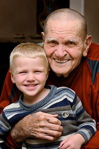 Brandon and Grandpa Sutton