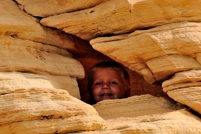Brandon in a cave