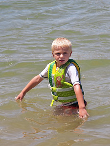 Nervous in the lake water