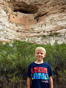 Brandon below Montezuma Castle