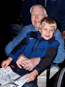 Brandon & Great Grandpa Wade