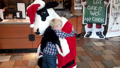 Chick Fil A Cow Santa