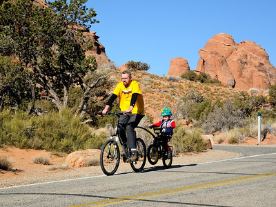 Bike riding at camp