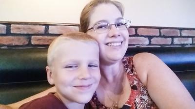 Mom & Brandon at lunch