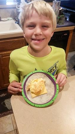 Brandon made breakfast