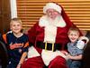 The boys and Santa