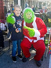 Grinch, and some guy dressed in a Santa suit