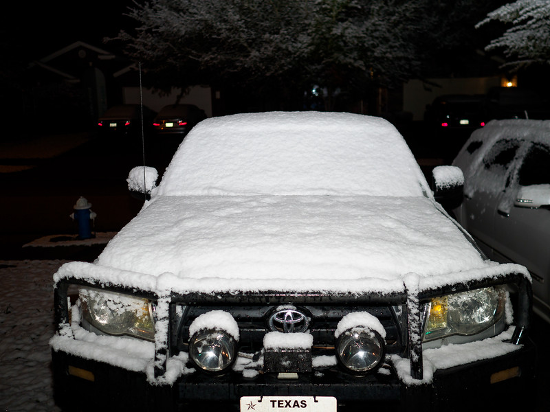 SNOW! In Houston!