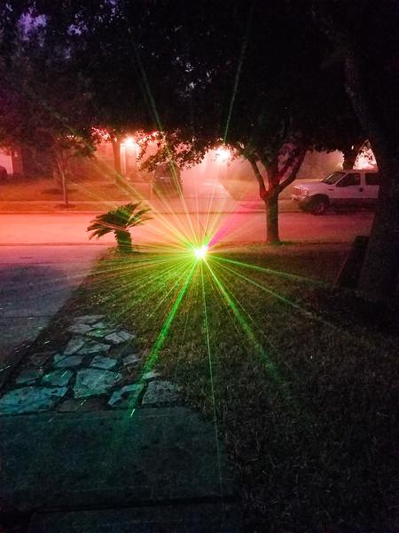 Lights in fog