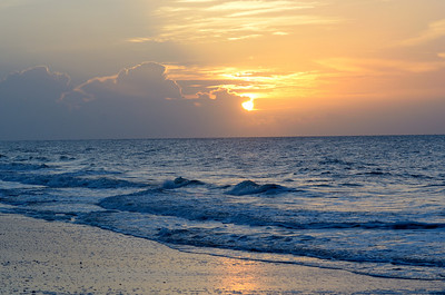 Sunrise, Edisto Beach, SC.  August, 2012.
