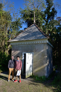 A tabby Chinese gardner's shack from the 1700's, Botany Bay Plantation