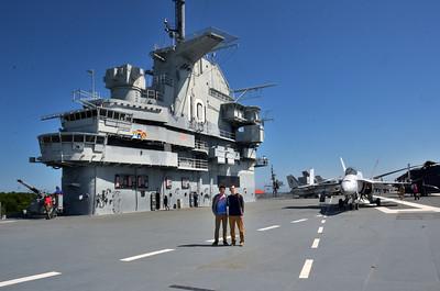 On the flight deck, USS Yorktown