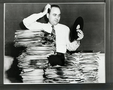 Rayburn Edward Howell picking the jukebox hits for Panther Distributing