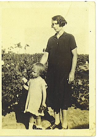 Grandmother Jewell Haire and one of my aunts