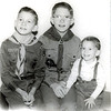 Donald, Dennis, and David Colvin. See next image for age information from back of photo.