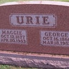 George and Maggie Urie. Maggie's maiden name was Margaret Bollinger. Buried in Oaklawn Cemetery in Buffalo, Mo (Dallas county).