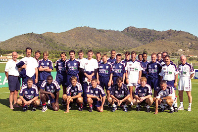 England World Cup Squad 1998  at La Manga Club, 1st June 1998