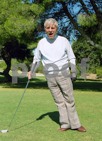 Norman Wisdom on La Manga Club's West Course, 1998