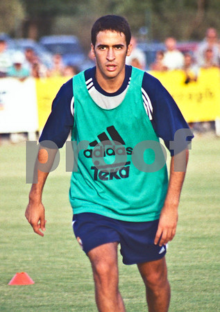 Raúl training with Real Madrd FC at La Manga Club, 20th August 2000