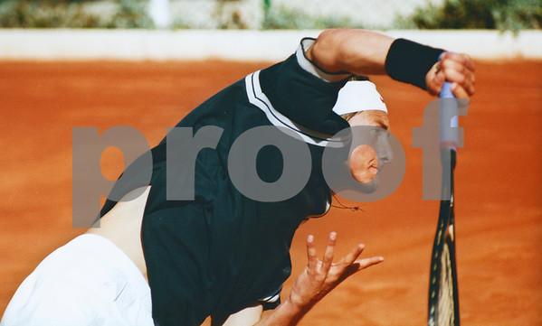 Juan Carlos Ferrero, before becoming World No.1  playing at La Manga Club Tennis Centre
