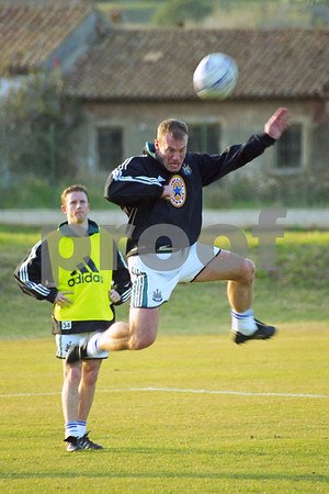 Alan Shearer training with Newcastle at La Manga Club, 24th January 2000