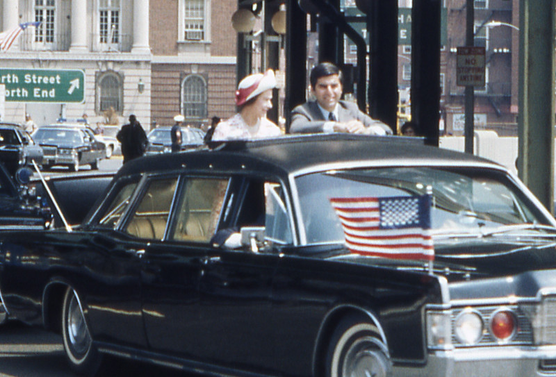 Queen Elizabeth and Governor Michael Dukakis