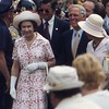 England's Queen Elizabeth and Boston's Mayor Kevin White