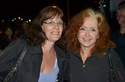Judi with Bonnie Raitt