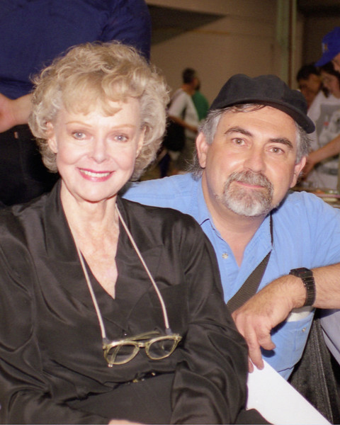 David with June Lockhart