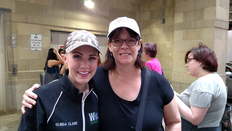 Judi with Ginna Claire Mason, Wicked's Glinda