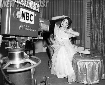 "Nancy Berg poses for the NBC cameras in ""Count Sheep"" 1955"
