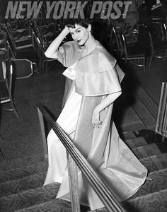 Nancy Berg readies for the runway. 1955