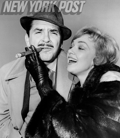Actress Edie Adams and comedian husband Ernie Kovacs. 1960