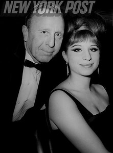 Film producer Ray Stark and actress/singer Barbara Streisand. 1964