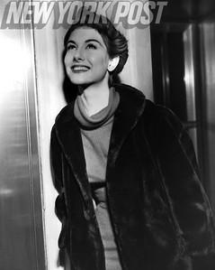 Beautiful Nancy Berg model and actress close up. 1955