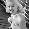 On her way to Hollywood! British actress Diana Dors doesn't mind being compared to Marilyn Monroe. 1956