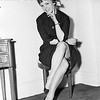Christine Carere Modeling On Chair. 1958.