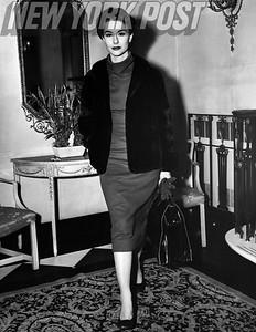 Beautiful model and actress Nancy Berg posing. 1955