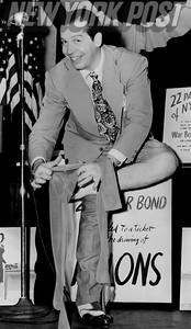 Milton Berle at the War Bond Drill in 1944