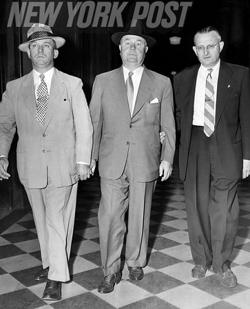 Frank Erickson, John Jackson, and E Smith pictured leaving Brooklyn Federal Bldg 1953.