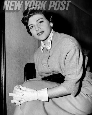 Phyllis Brown in Brooklyn felony Court 1955.
